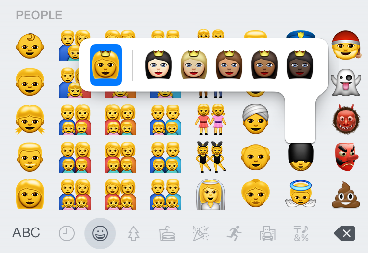 behold the ios system keyboard how to make black people
