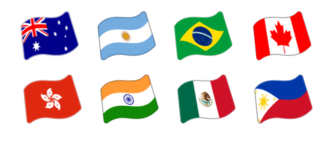 209 New Emoji Flags Available Today