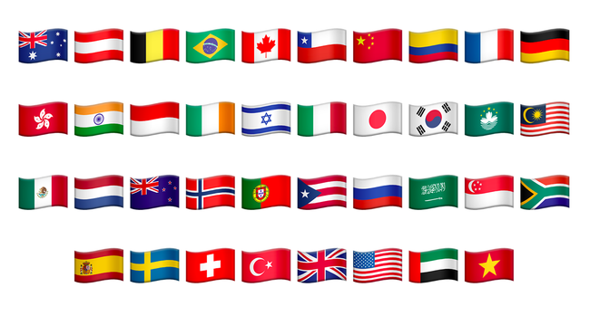 This emoji update introduces 27 more country flags into its emoji ...