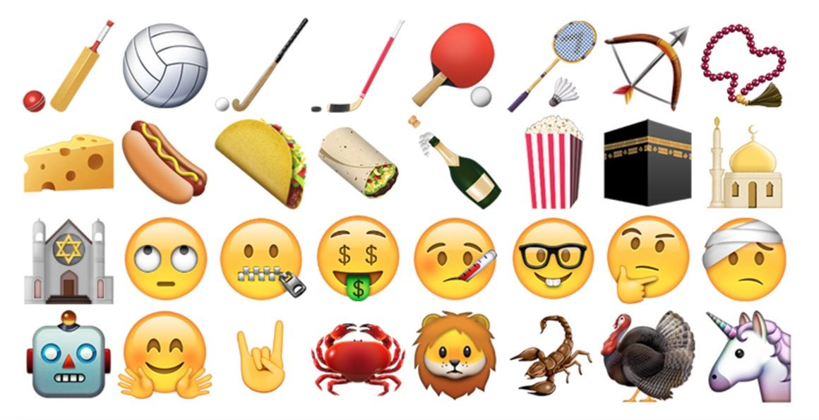 new emoji keyboard food and faces
