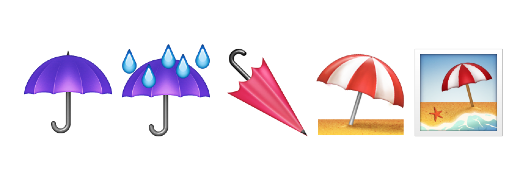 Ios 91 emoji changelog above now ios users have a choice of five umbrella emojis biocorpaavc Image collections