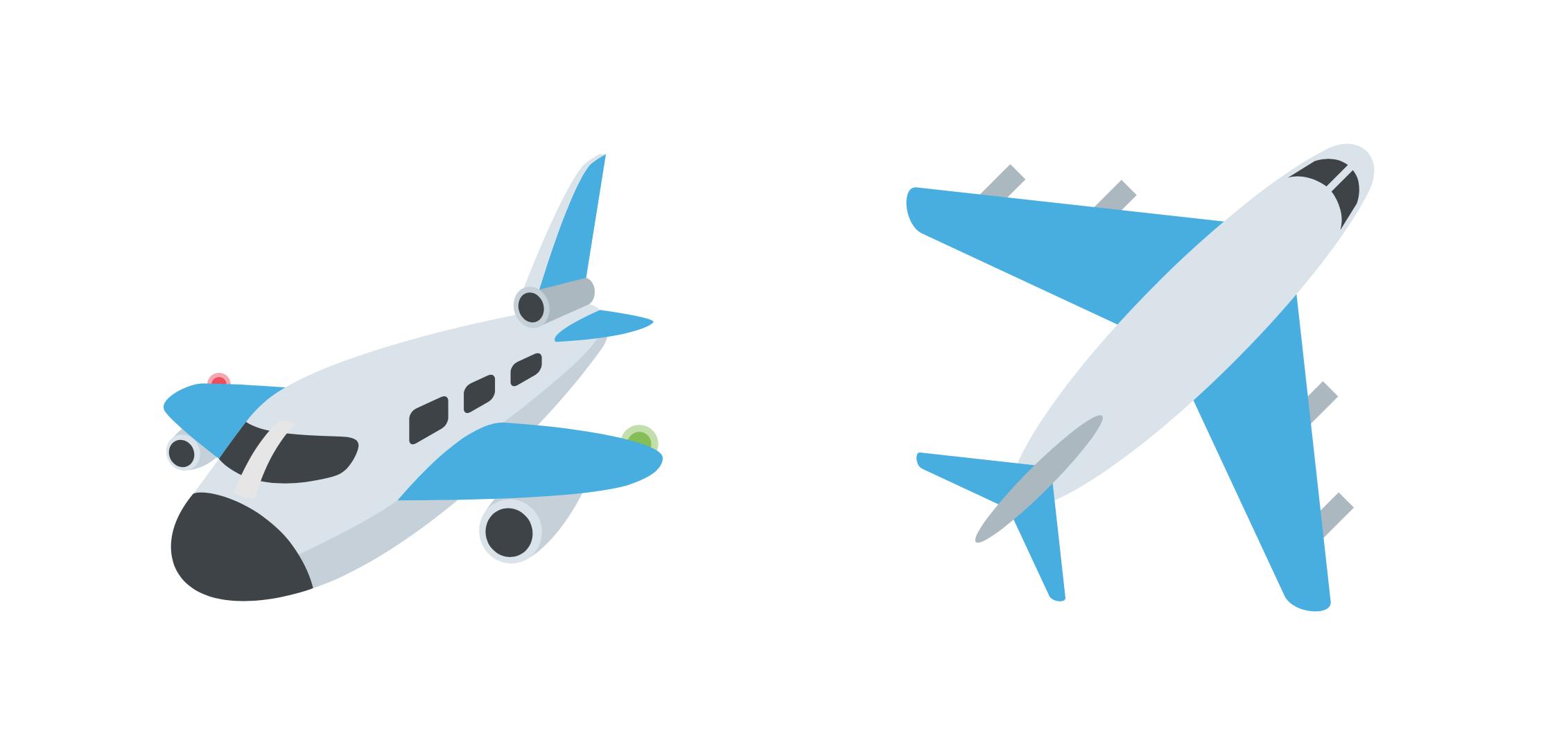 Flag Airplane Emoji Emoji One 2.1 C...