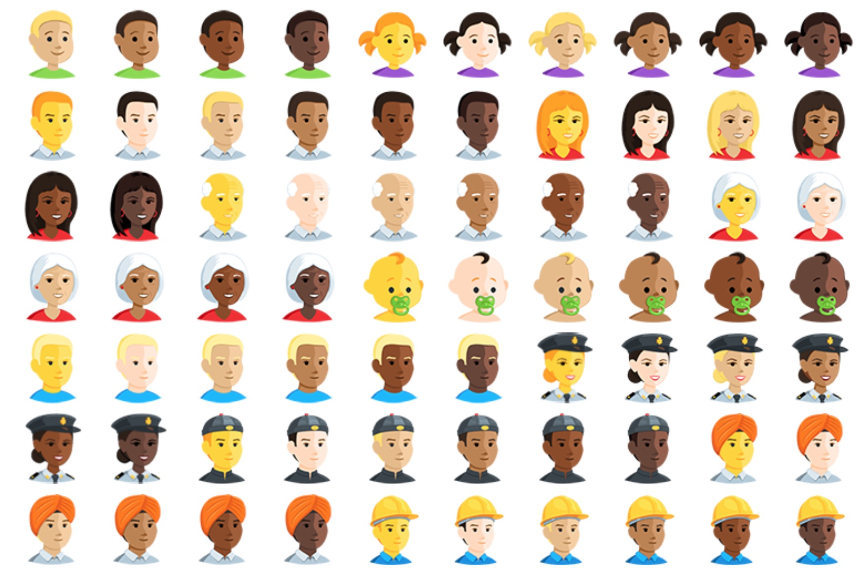 New facebook messenger emojis are stunning above messenger now support skin tone modifiers buycottarizona