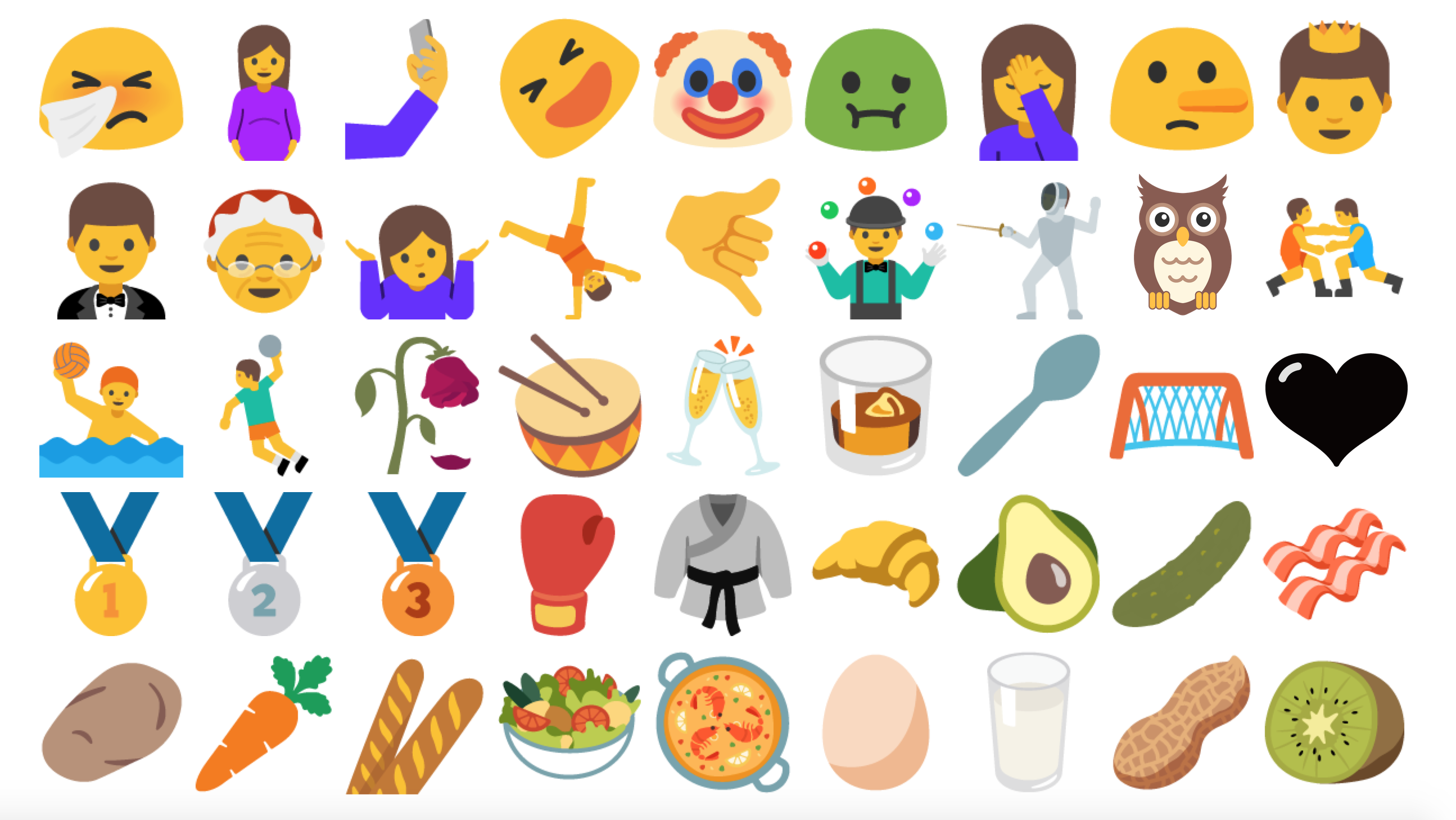 Android Nougat Emoji Changelog - Emojis created real life still dont make sense
