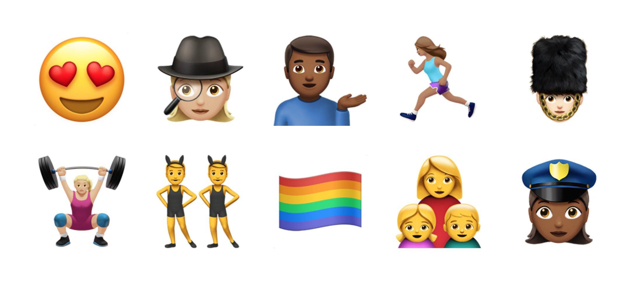 Relativ iOS 10 Emoji Changelog PV84