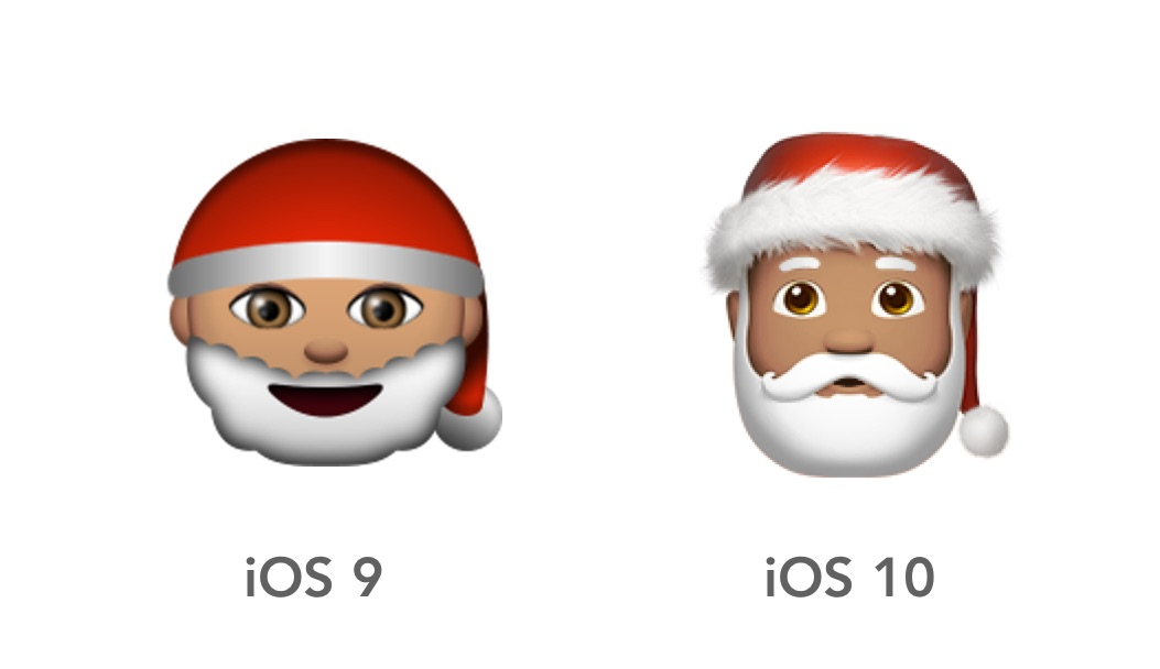 father christmas looks more like his jolly old self and less like one of the other emojis in disguise