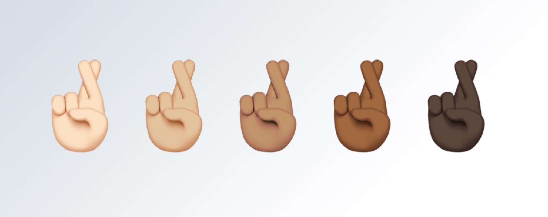 Fingers crossed emoticon facebook