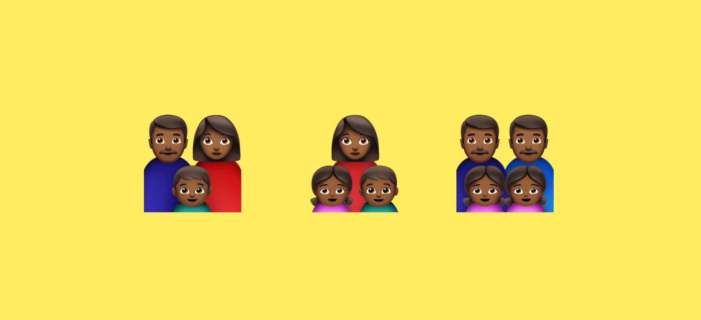 why there aren t black family emojis