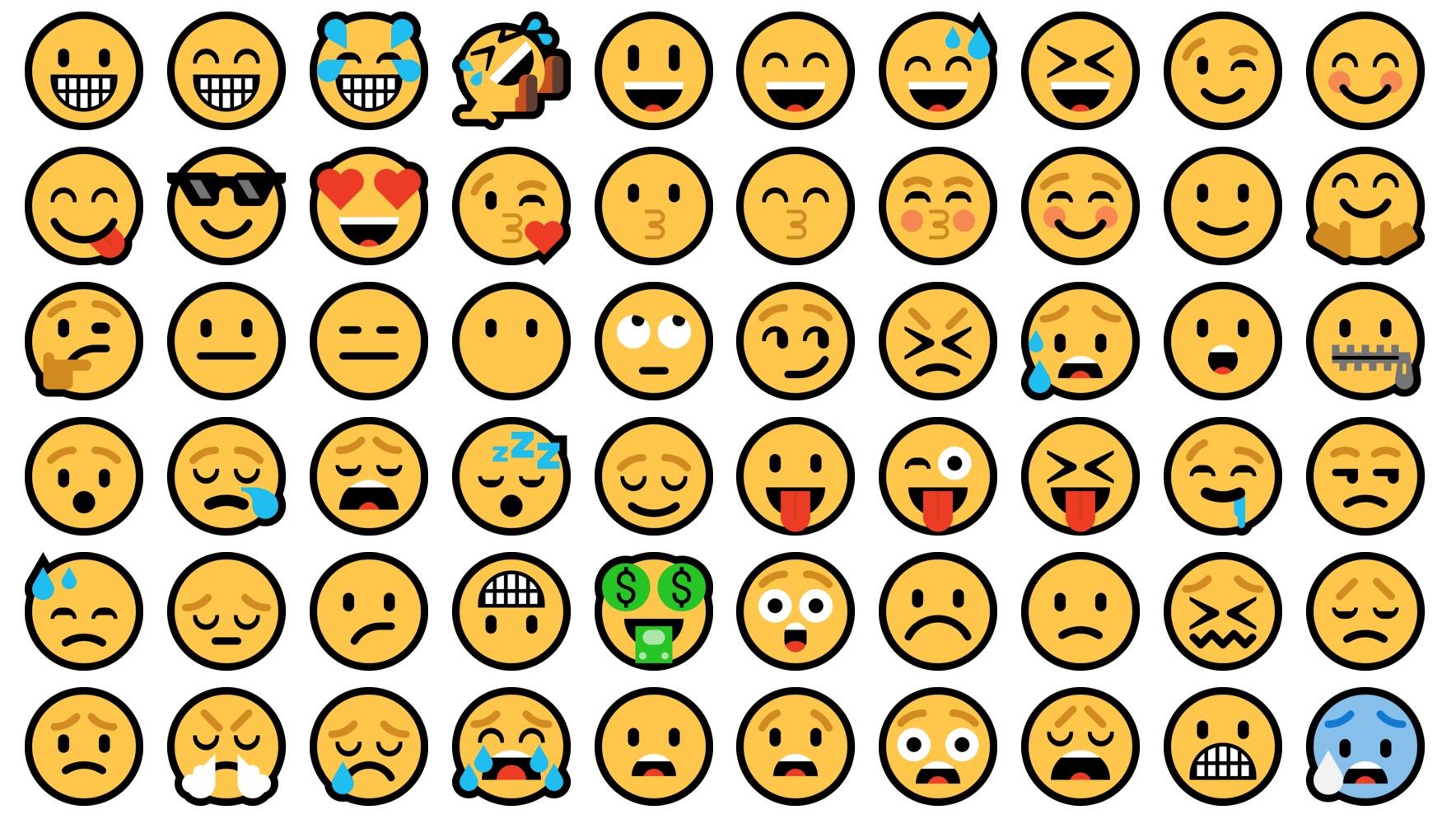 browse every microsoft emoji