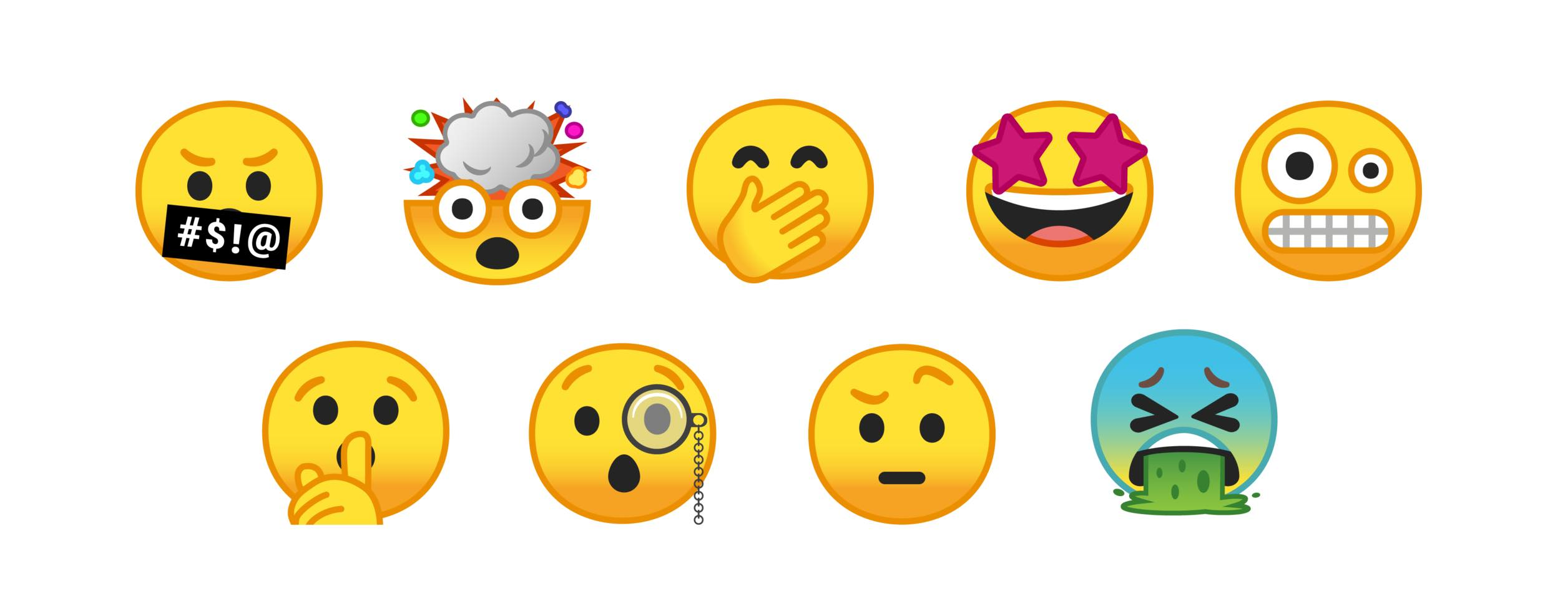 Whats new in unicode 100 above new emojis from unicode 10 in android o beta biocorpaavc Image collections