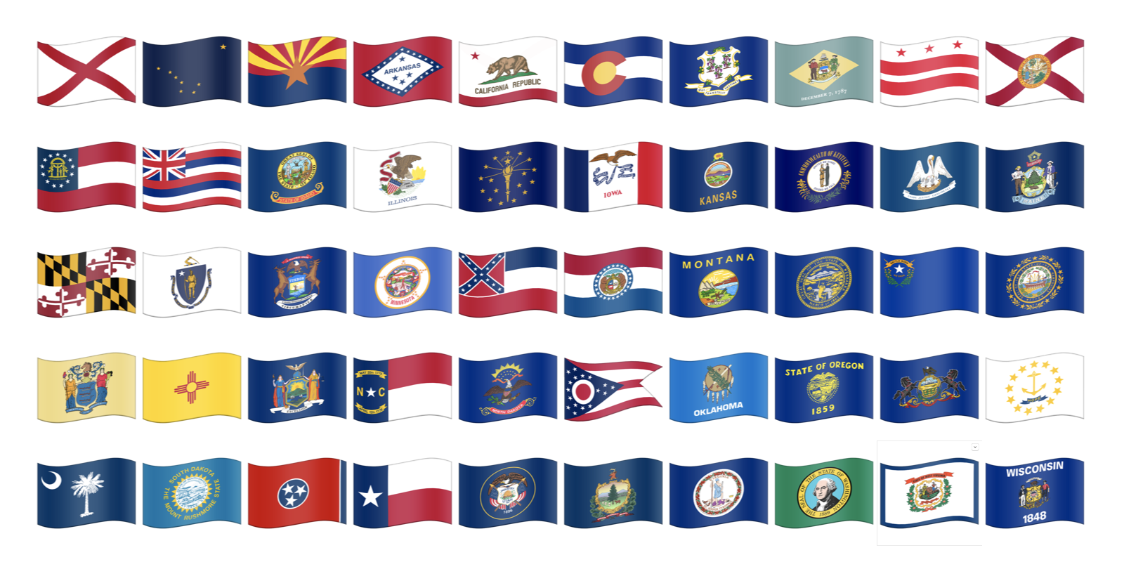 Above Us State Flags Are Among The Many Flag Sequences That Now Valid In Unicode Will Any Vendors Choose To Support Them Image Emojipedia