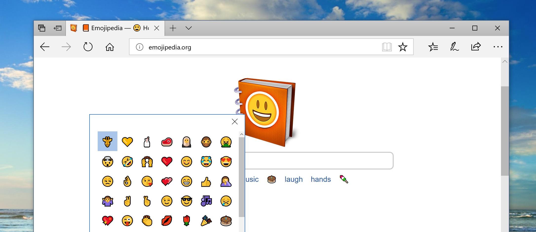 how to use the new windows emoji picker