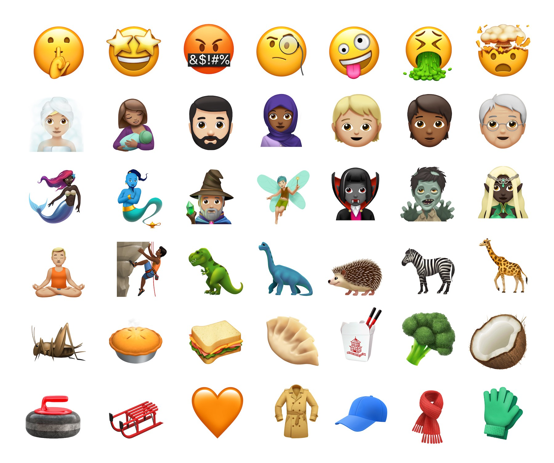 new iphone emojis new emojis in ios 11 1
