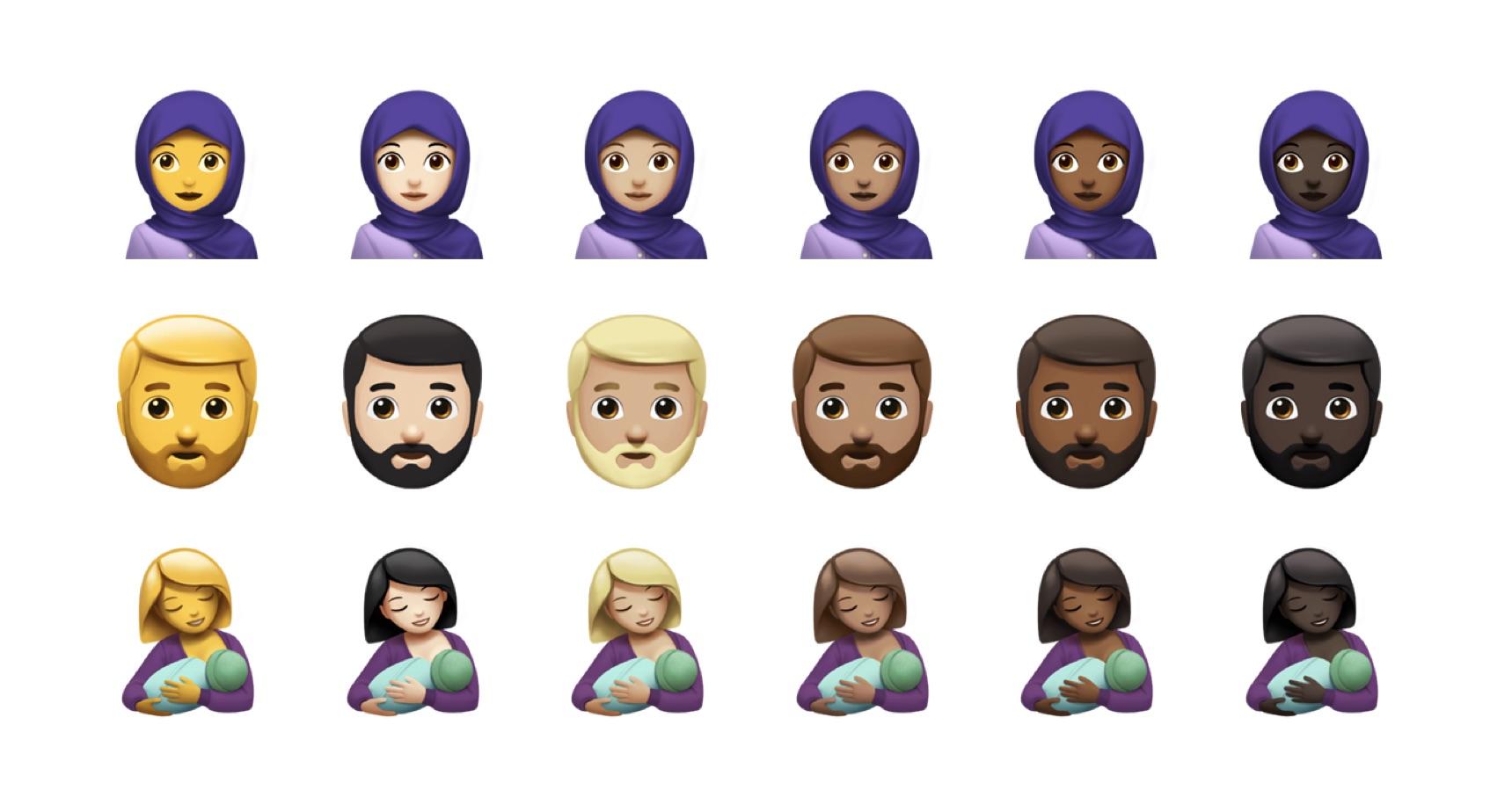 headscarf-beard-breastfeeding-emojis-ios-11-1-emojipedia