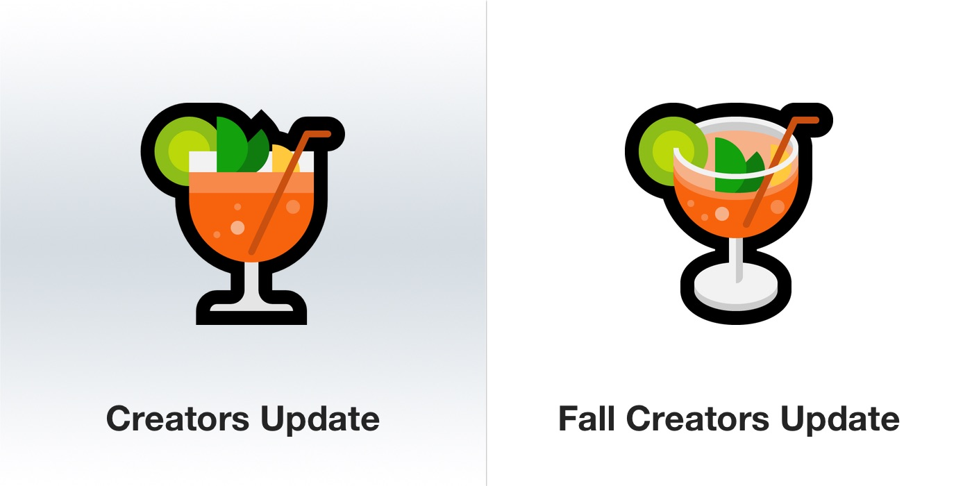 windows-10-fall-creators-update-cocktail-emoji-emojipedia