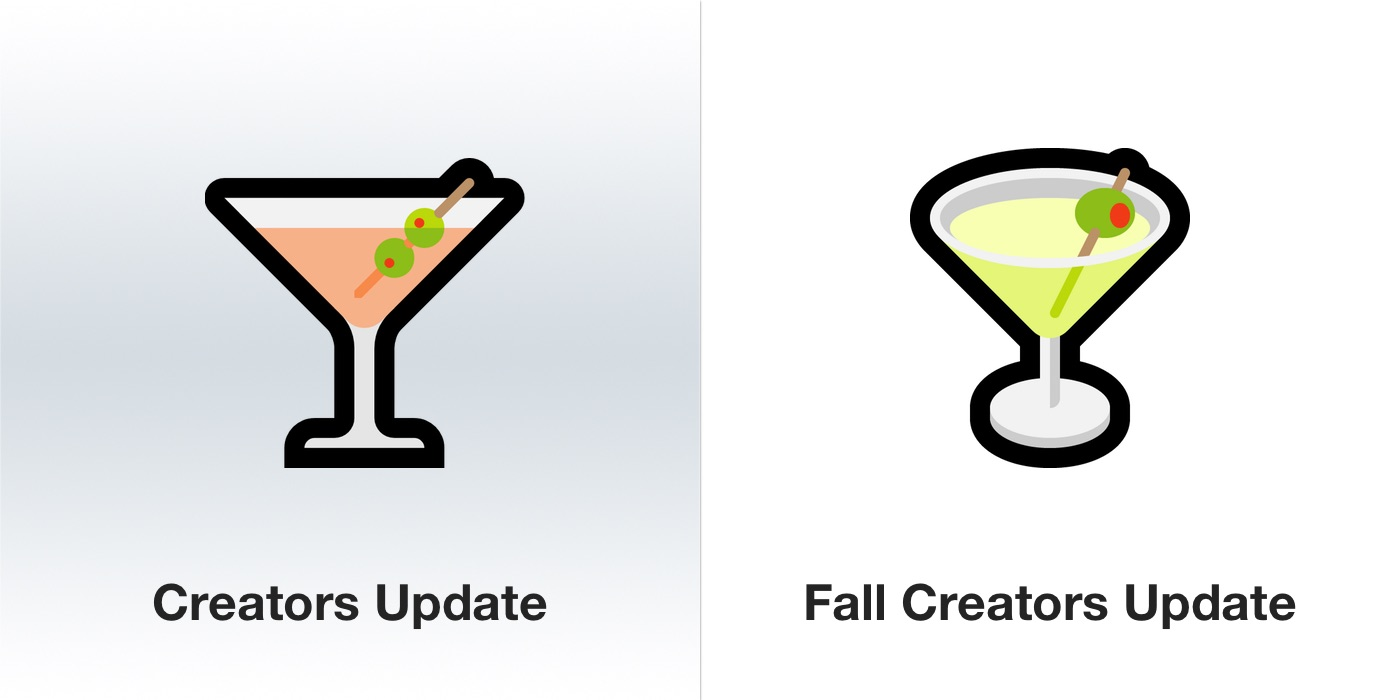 windows-10-fall-creators-update-martini-emoji-emojipedia
