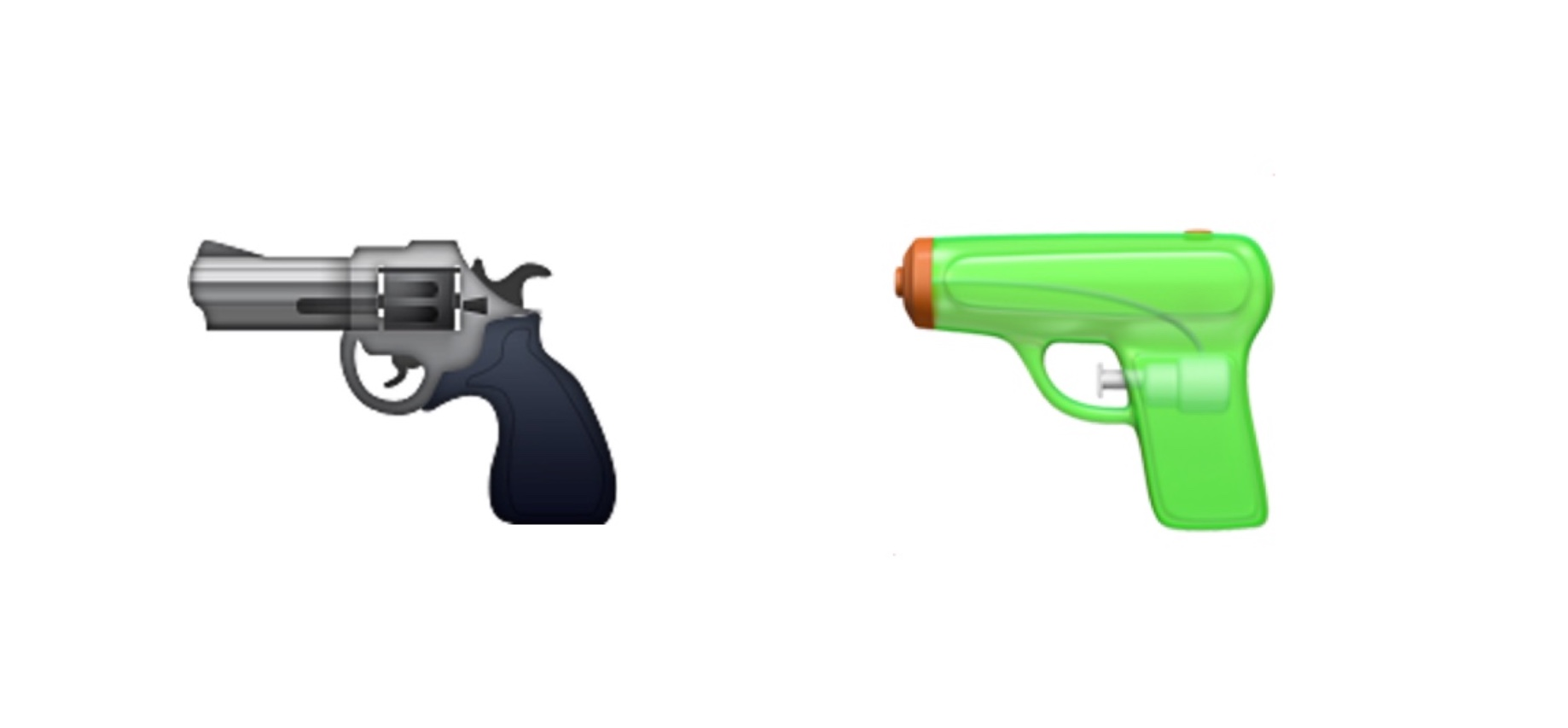 apple-gun-water-pistol-emoji-emojipedia