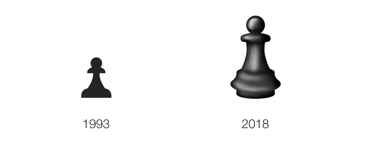 A Chess Piece Is Emojified