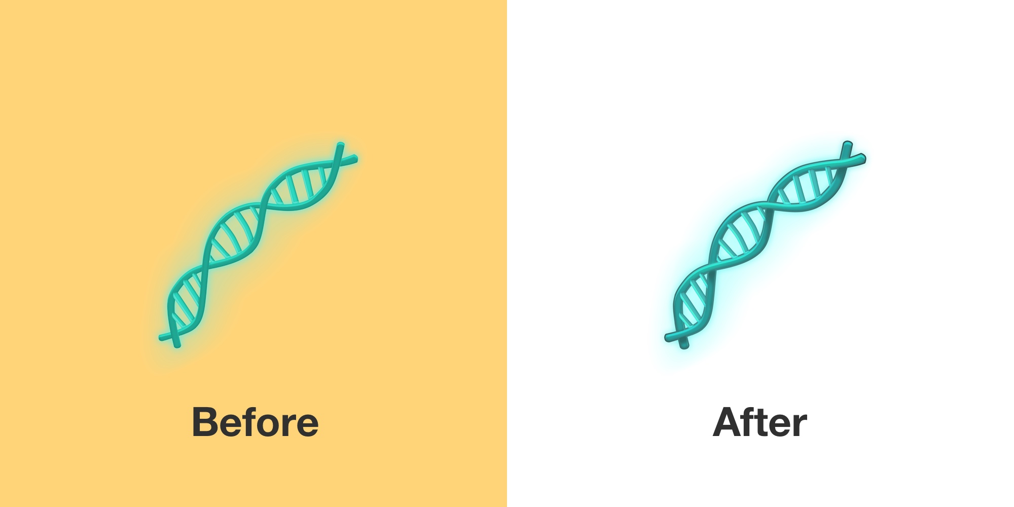 dna-emoji-emojipedia-before-after