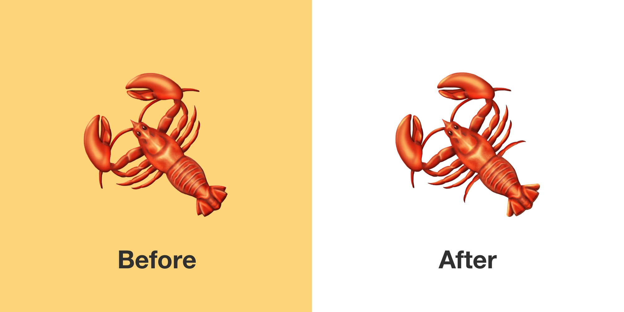 lobster-emoji-emojipedia-before-after