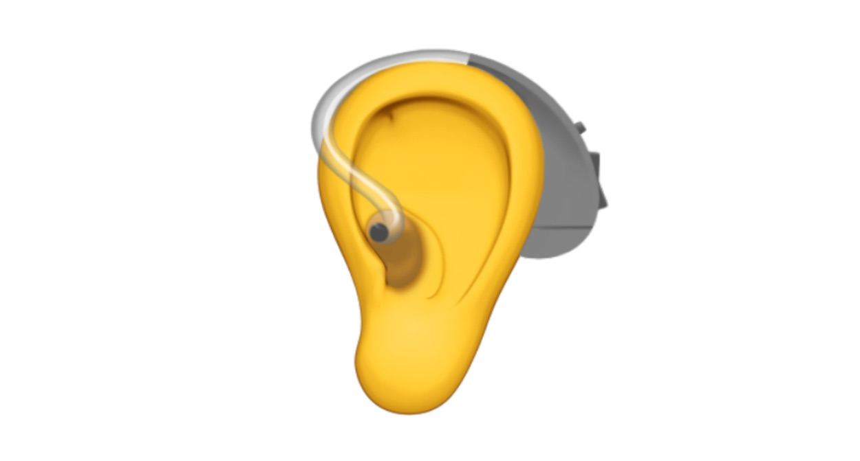 apple-ear-with-hearing-aid-emoji-emojipedia