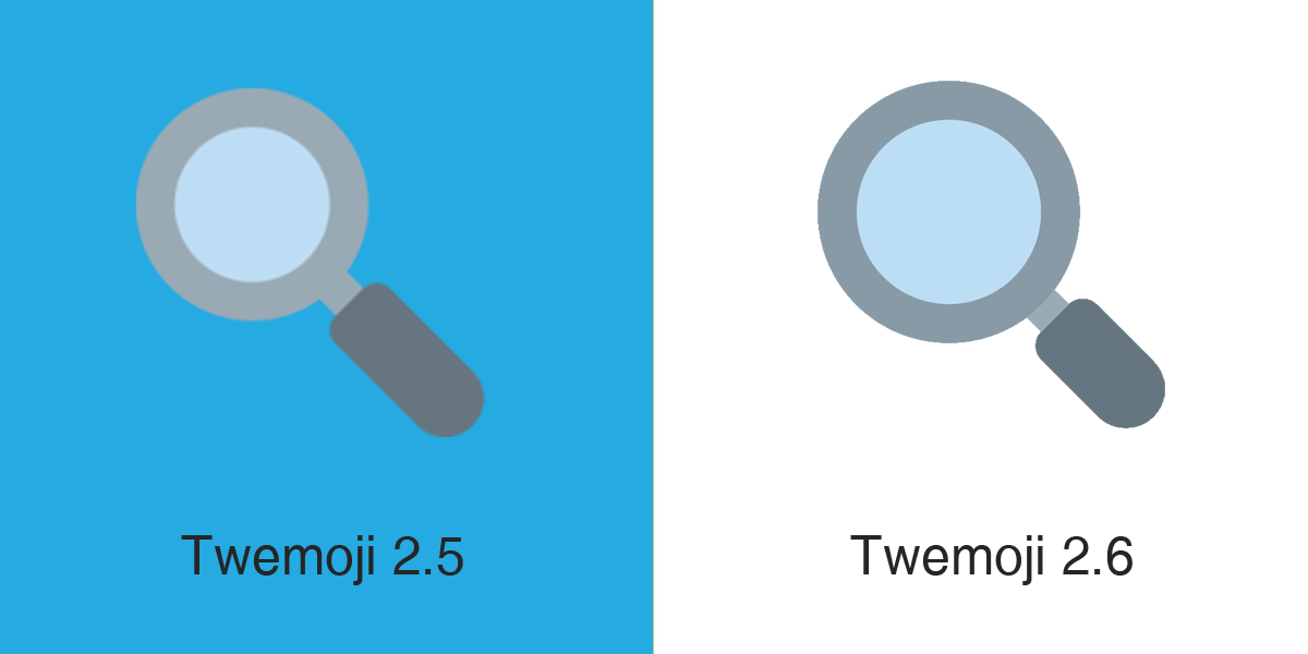Emojipedia-Twemoji-2dot6-Magnifying-Glass-Tilted-Left-Emoji-Comparison-1