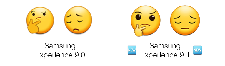 Samsung-Experience-9-1-Emojipedia-Comparison-Thinking-Face-Pensive-Face-Comparison-1