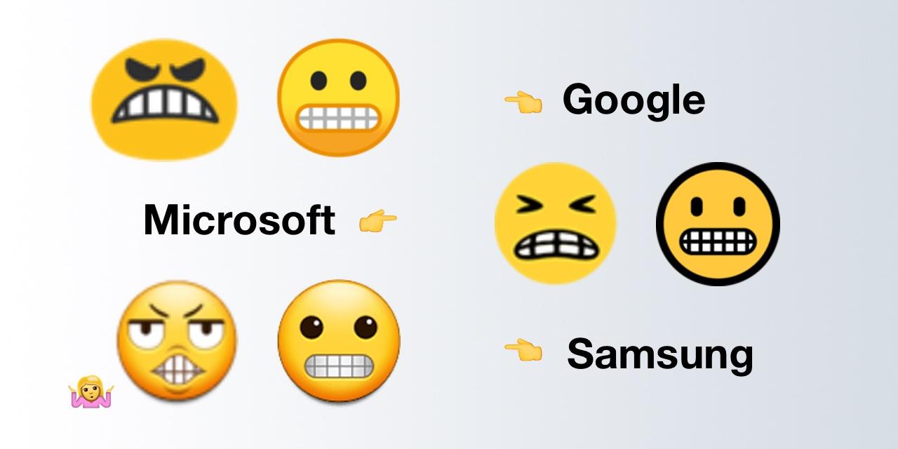 Google-Microsoft-Samsung-Grimacing-Face-Comparison-Emojipedia