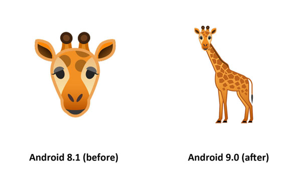 Emojipedia-Android-9.0-Changelog-Giraffe-Emoji-Comparison-3