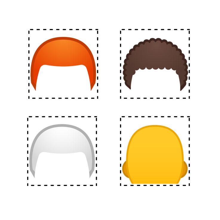 Emojipedia-Android-9.0-Emoji-11.0-Hair-Style-Emoji-Components