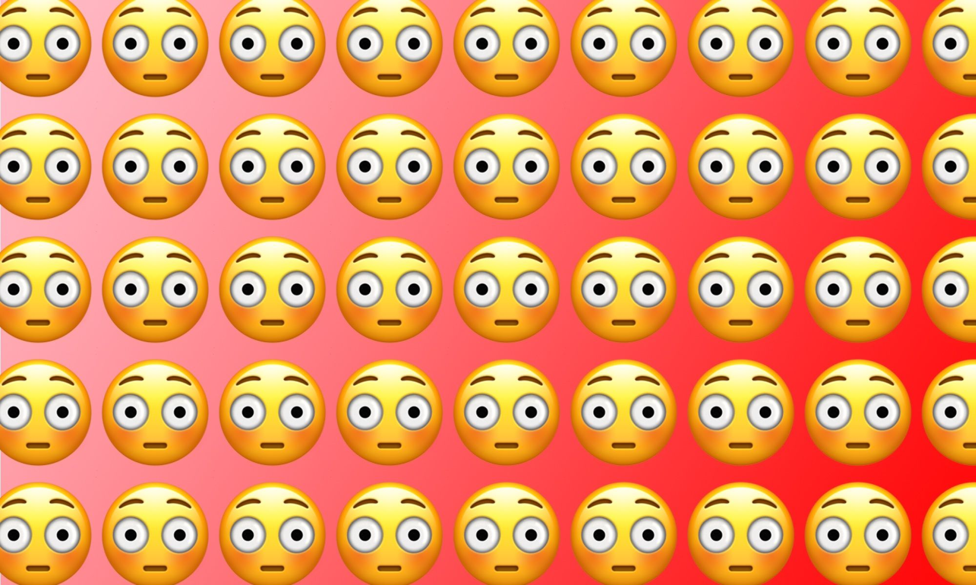 Emojiology: 😳 Flushed Face