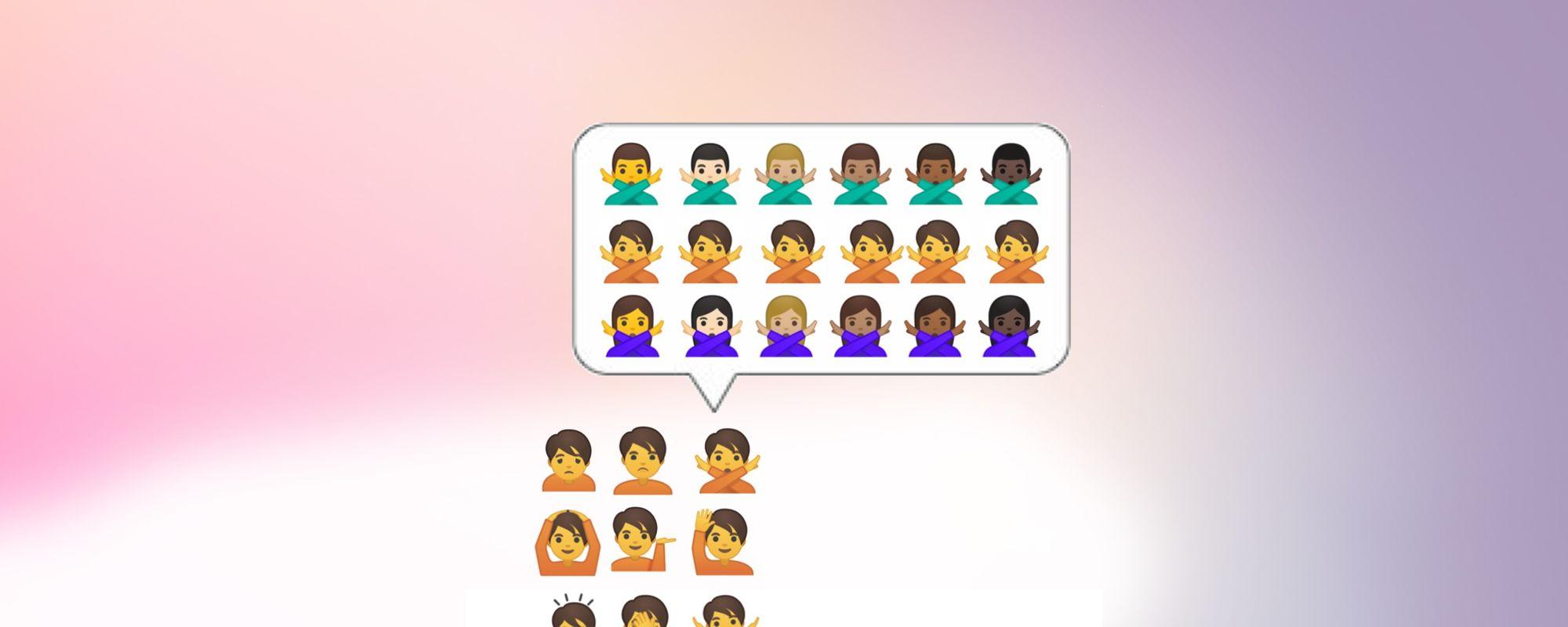 Google's Three Gender Emoji Future