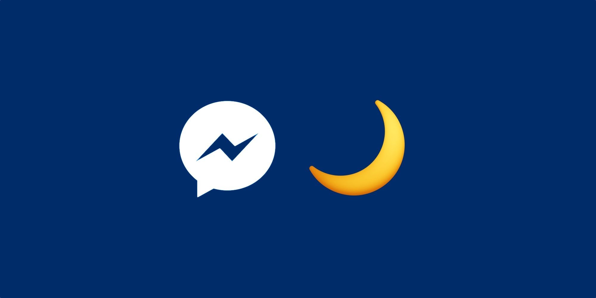 This Emoji Actives Messenger Dark Mode