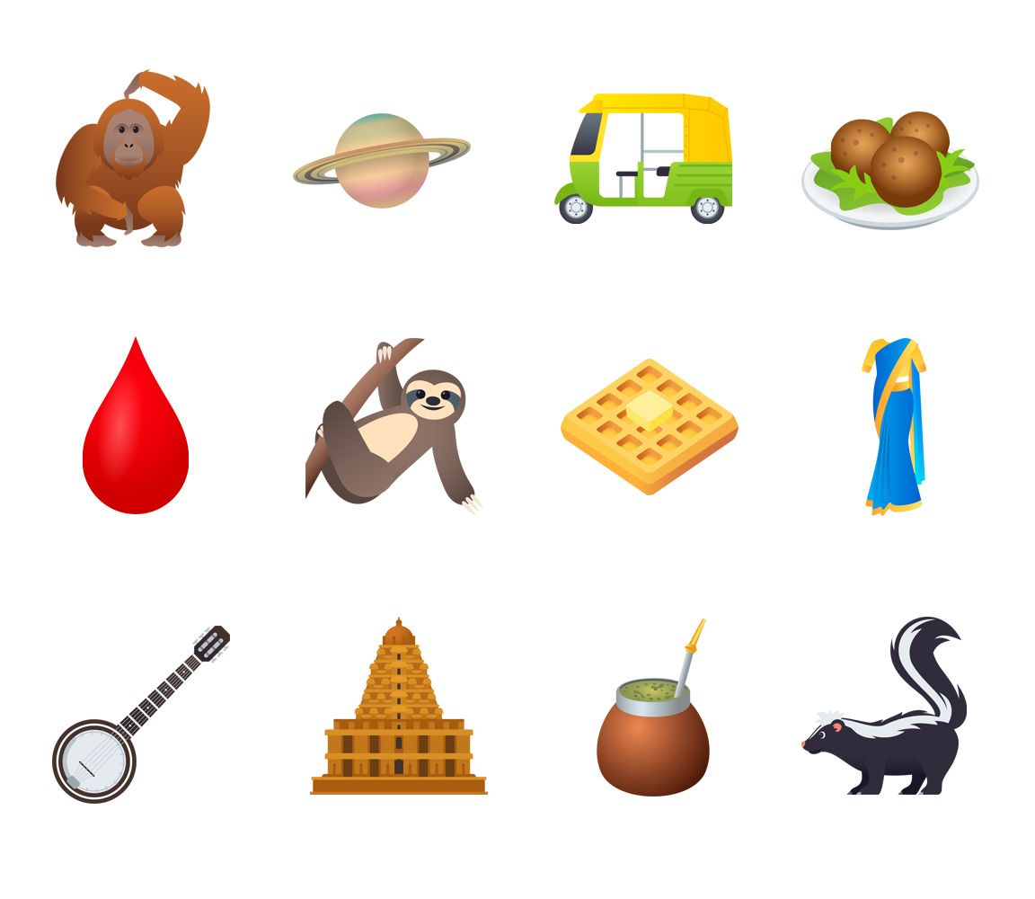 Emojipedia-JoyPixels-5.0-Emoji-Changelog-Selection-Emoji-12-Animals-Food-Objects-Selection