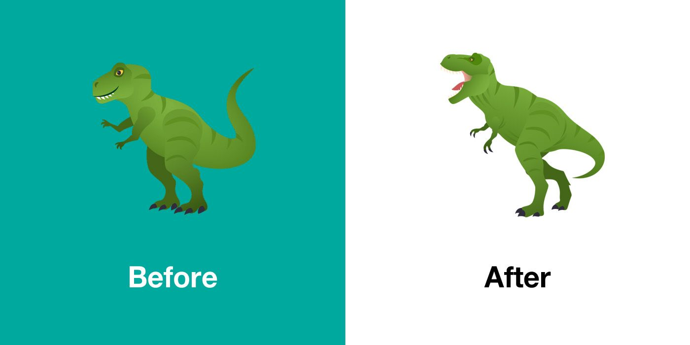 Emojipedia-JoyPixels-5.0-Emoji-Changelog-T-Rex-Comparison