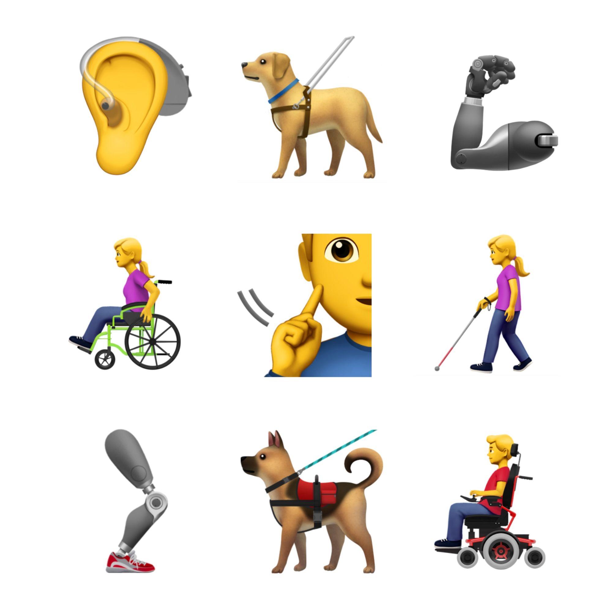 Apple 及 Google 在 World Emoji Day 这天表现出了对残疾人士的关注,未来emoji更多元化 6