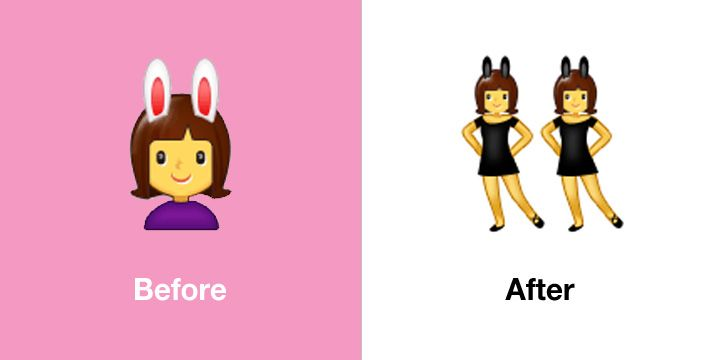 Emojipedia-Samsung-One-UI-1.5-Emoji-Changelog-Comparison-Women-With-Bunny-Ears