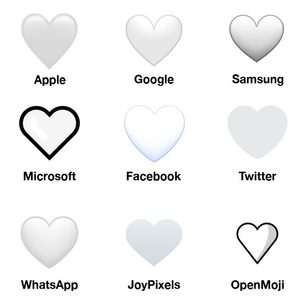 Emojipedia-2019-Emoji-Changelog-White-Heart-Comparison