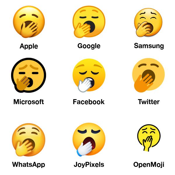 Emojipedia-2019-Emoji-Changelog-Yawning-Face-Comparison