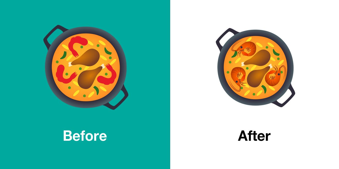 Emojipedia-JoyPixels-5.5-Comparison-Shallow-Pot-Of-Food