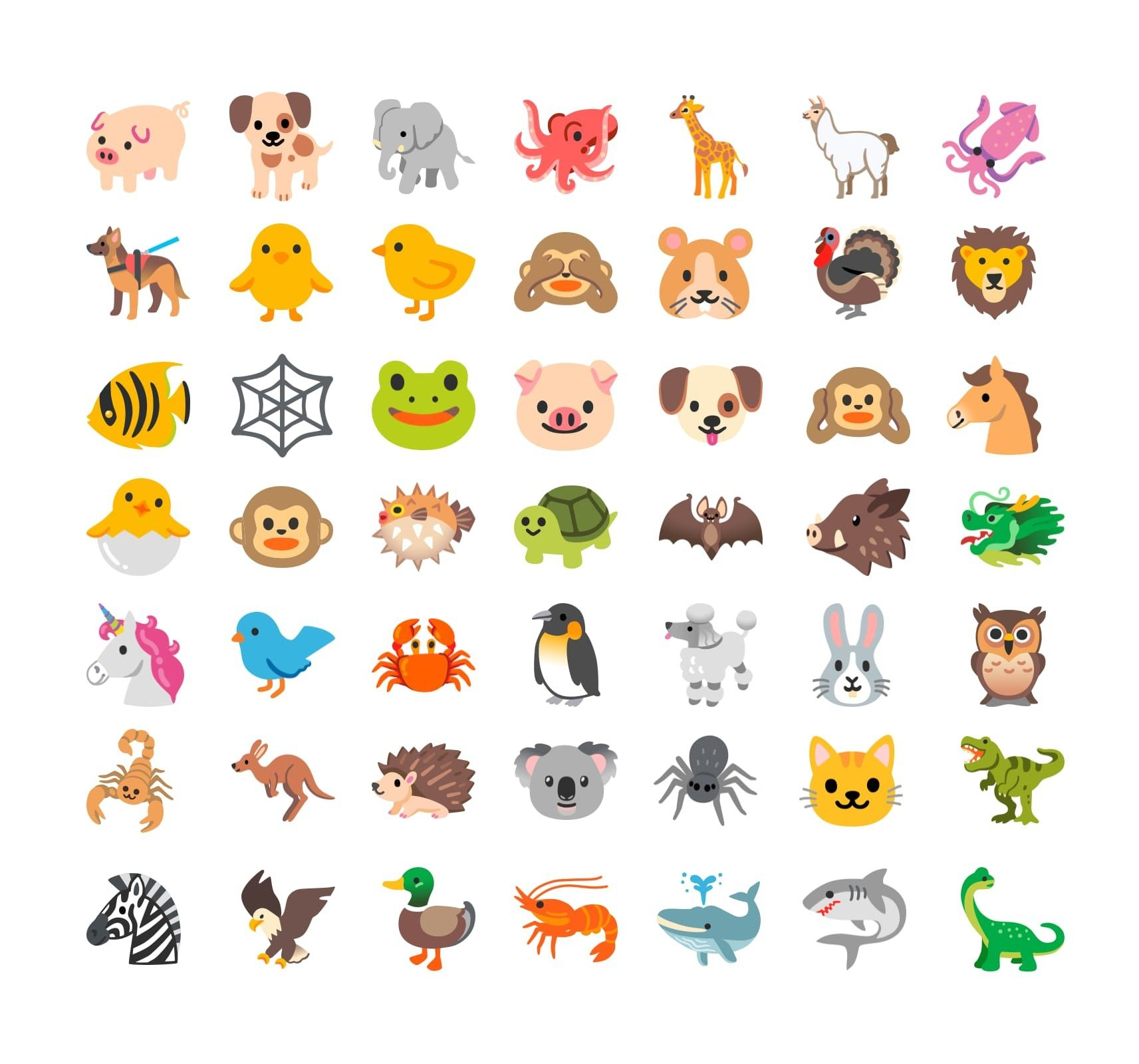 new-animal-emojis-android-11-old-classics