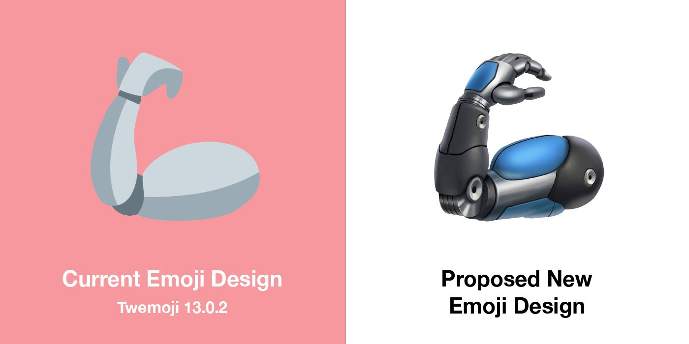 Emojipedia-Twemoji--New-Designs-Comparison-Mechanical-Arm