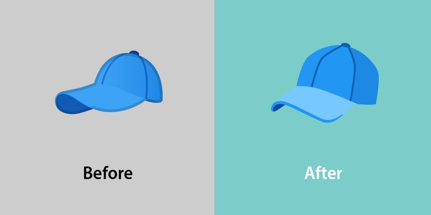 Emojipedia-Android-12_0-Changed-Emojis-Comparison-Billed-Cap