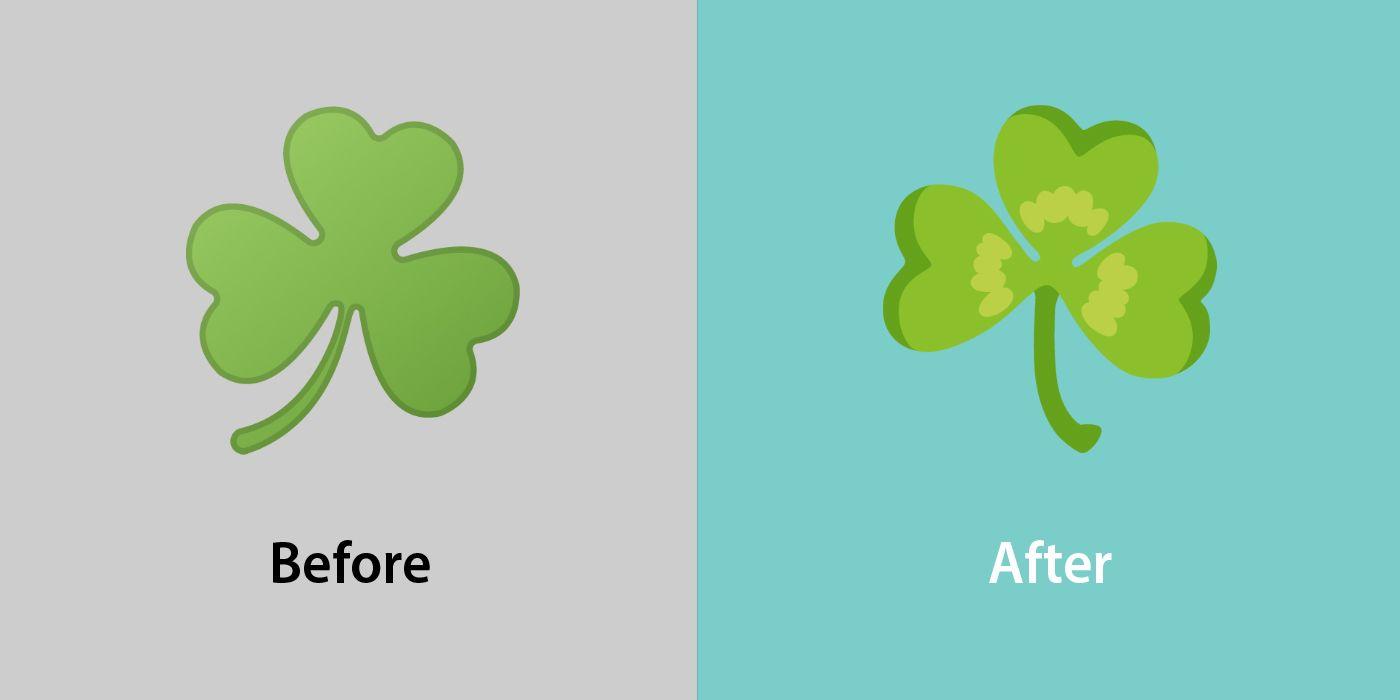 Emojipedia-Android-12_0-Changed-Emojis-Comparison-Shamrock-1