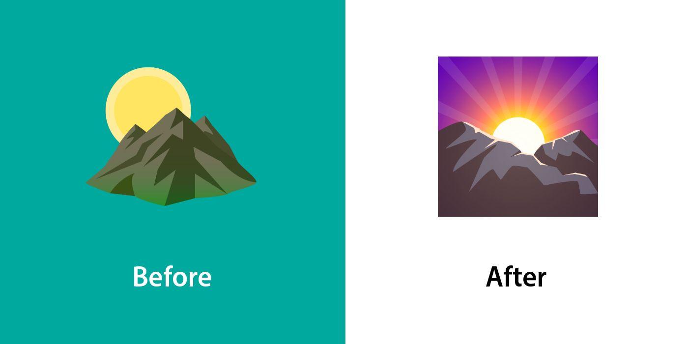 Emojipedia-JoyPixels-6_6-Changed-Emojis-Sunrise-Over-Mountains