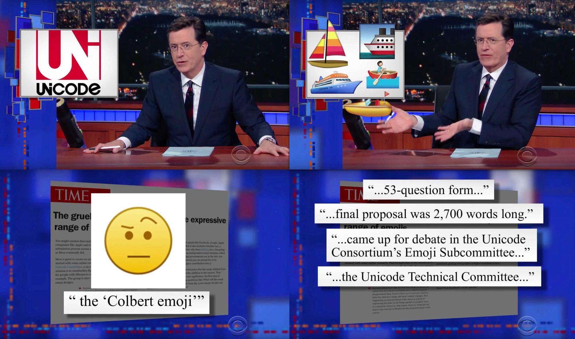 Rise of the Colbert Emoji