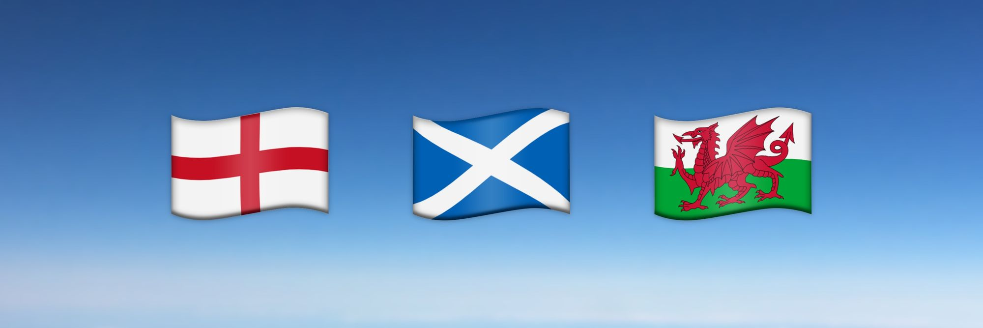 Emoji Flags for England, Scotland and Wales