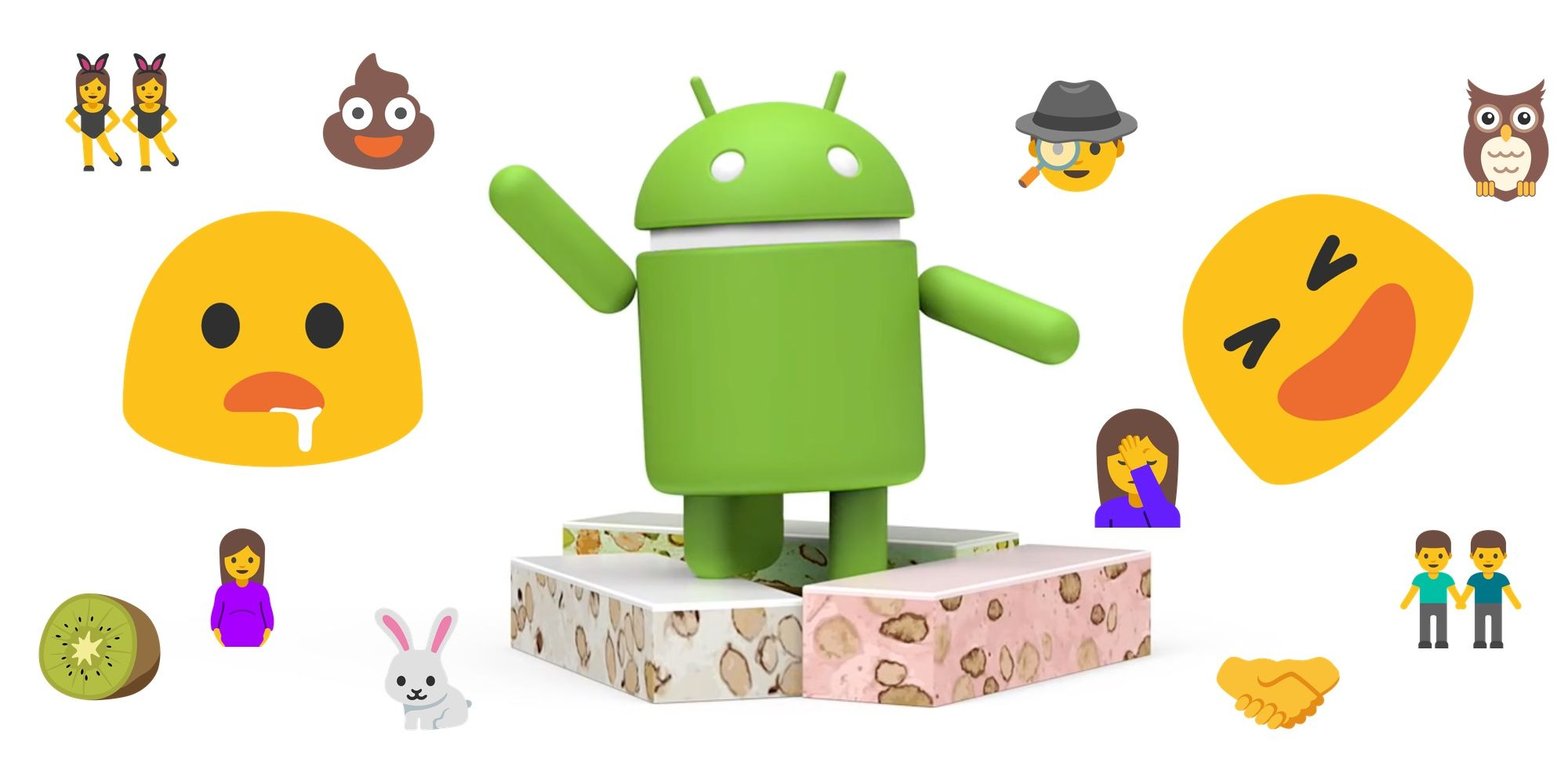 Android 7.0 Nougat Emoji Changelog