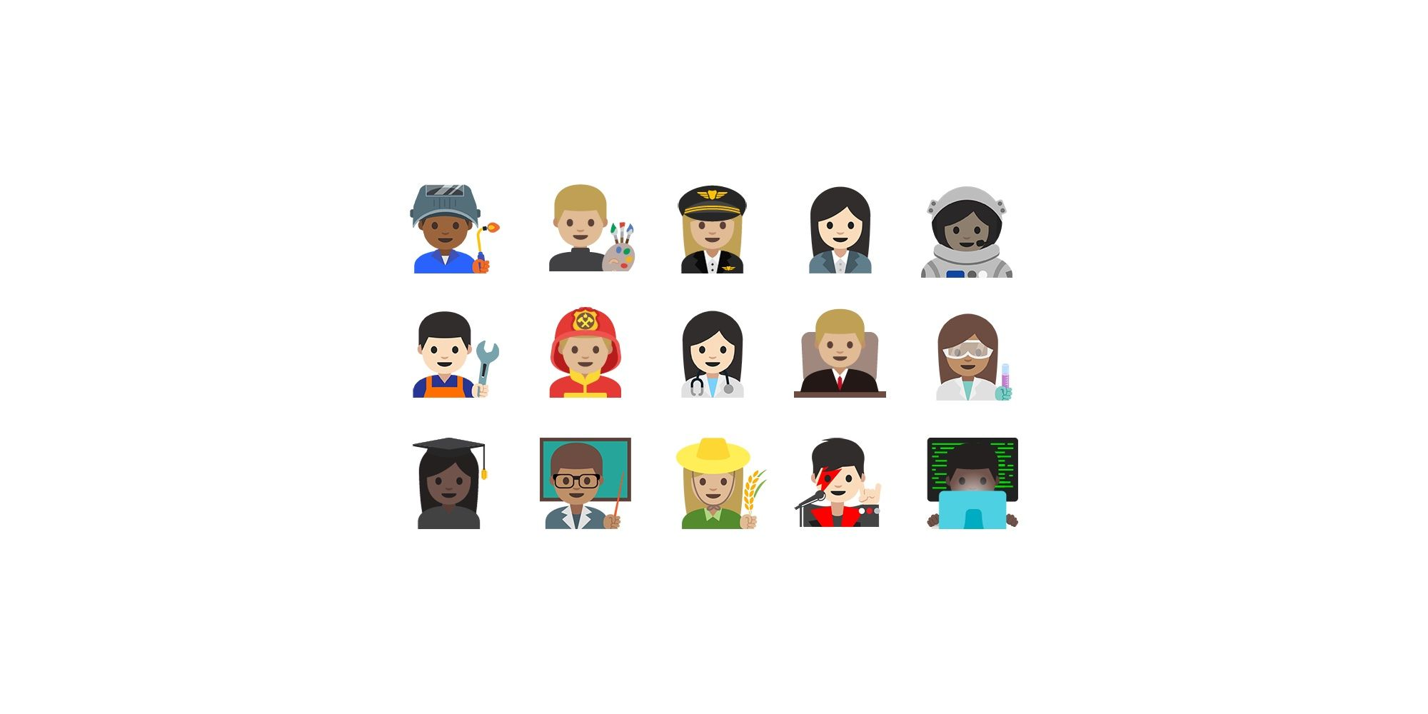 First Look: Emoji Professions on Android