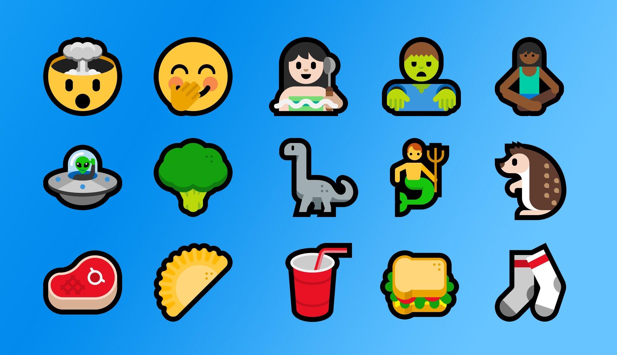 Windows 10 Fall Creators Update Emoji Changelog
